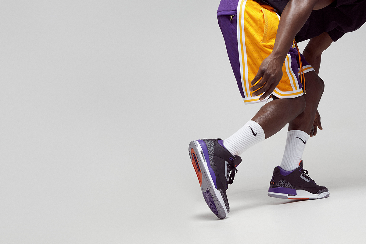 The Air Jordan III Court Purple releases at BSTN on Saturday, November 21st, at 9 am CET.