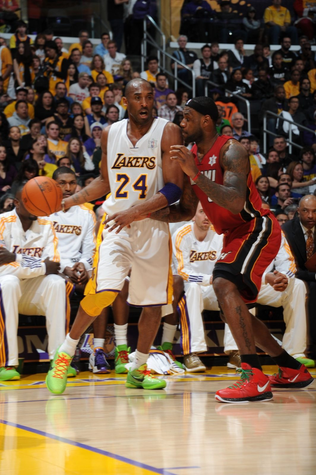 Lakers vs. Heat, Christmas Day 2010 - Andrew D. Bernstein/NBAE via Getty Images